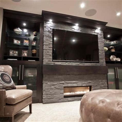 Tv Stand Bookcase Combo Basement Design Ideas Pictures Remodels And Decor