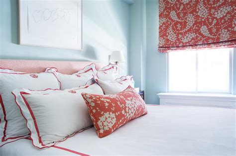 red and blue bedroom red and blue bedroom with red scalloped monogrammed
