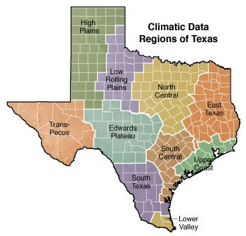 texas map regions environment texas almanac