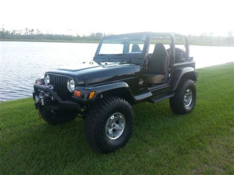 2002 Black Jeep Wrangler Sell Used 2002 Jeep Wrangler 4 0l Tj 4x4 Black In