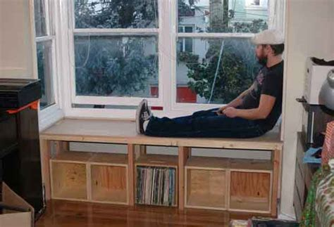 window benches build storage bench window seat woodworking blog window