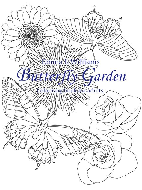 beautiful garden coloring page butterfly garden butterflies insects coloring pages