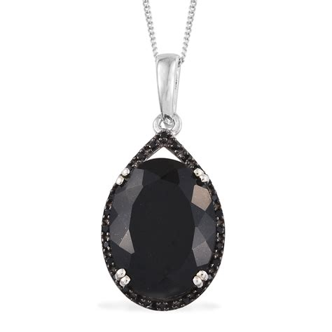 black with pendants australian black tourmaline thai black spinel platinum