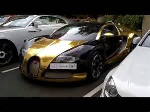 And White Lamborghini Black Gold Bugatti Veyron And White Lamborghini