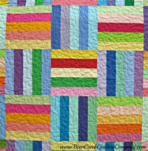 Rail Quilt Pattern by Rainbow Rail Fence Free Quilt Pattern
