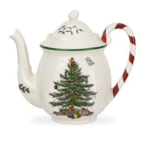 spode christmas tree candy cane handle mugs spode tree teapot ebay