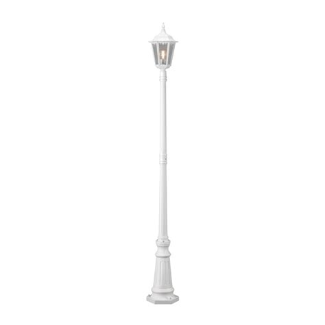 l post light bulbs konstsmide 7233 250 firenze matt white one light post l