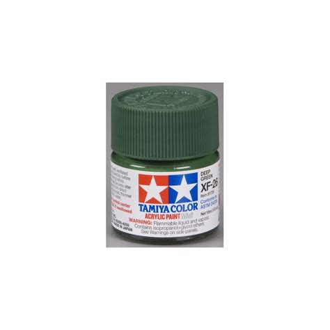 Tamiya Acrylic Xf 26 Green tamiya acrylic mini xf 26 green 10ml xray shop