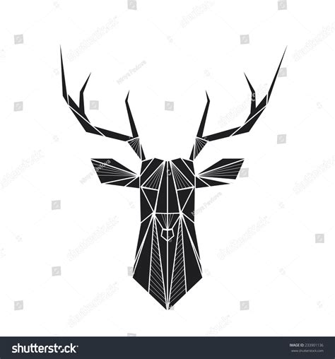 Deco Ind Blur T Shirt Pria Black vector abstract geometric background deer lager