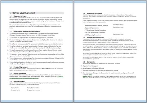 it support service contract template it support contract template contractguru