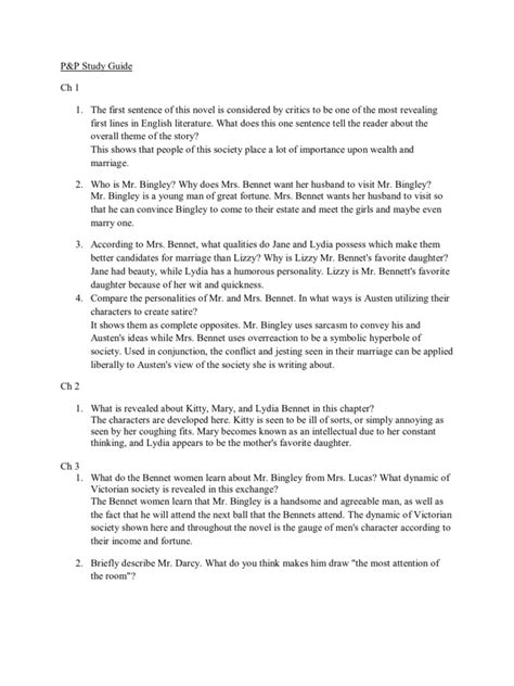 Introduction To Pride And Prejudice Essay by Introduction To Pride And Prejudice Essay Writingquizzes