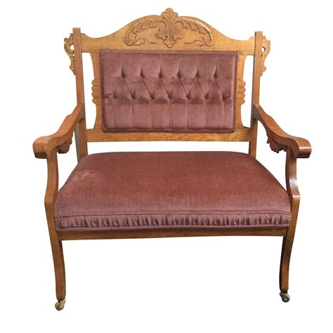 victorian settees 1880 s victorian eastlake settee chairish