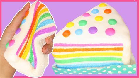 Squishy Rainbow Squishy Es Krim Squishy chawa rainbow cake so squishy rising