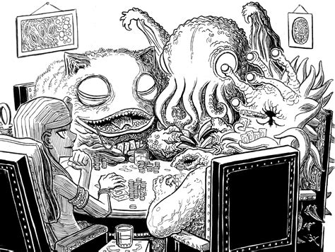 H P Lovecraft Sketches by Lovecraft Sketch Mwf Great Ones