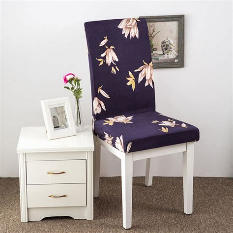 Elasticated Dining Chair Seat Covers Removable Elastic Stretch Slipcovers Dining Room Chair Seat Cover D 233 Cor Ebay