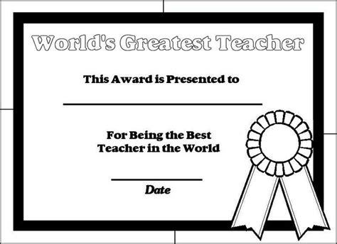 printable certificates for teachers best teacher