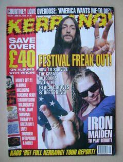 Kaos Motorhead The Best Of Mh03 kerrang magazine 24 june 1995 issue 551