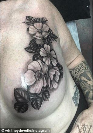 flower nipple tattoo breast cancer survivor by trolls after