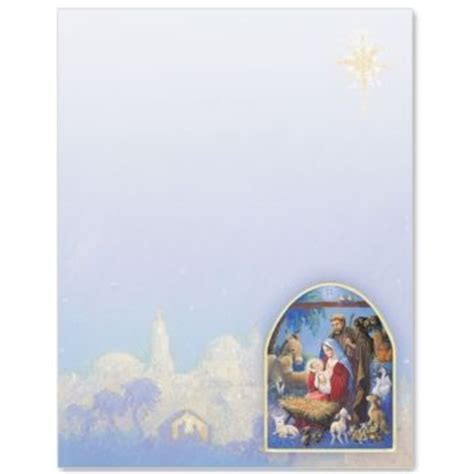 Christmas Nativity Border Papers Christmas Stationary Pinterest Christmas Nativity Nativity Letter Template