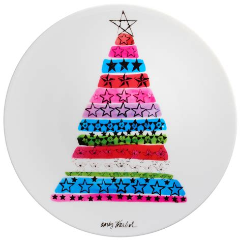 andy warhol porcelain plate quot christmas tree quot ars