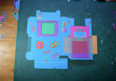 Gameboy Papercraft - papercraft gameboy the awesomer