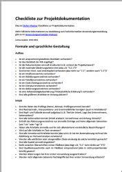 gliederung der projektdokumentation teil