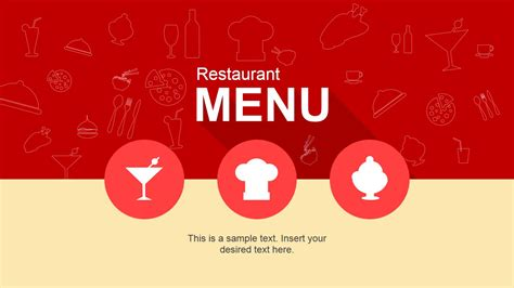 flat restaurant menu powerpoint template slidemodel