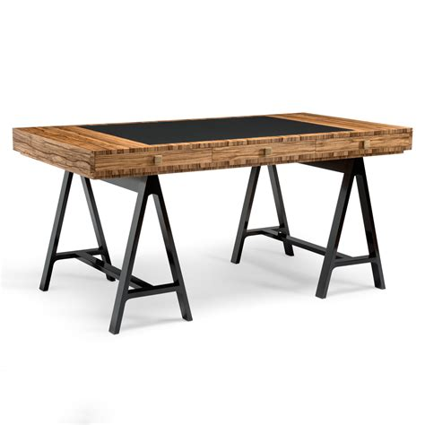 Trestle Office Desk High End Designer Contemporary Trestle Desk Juliettes Interiors