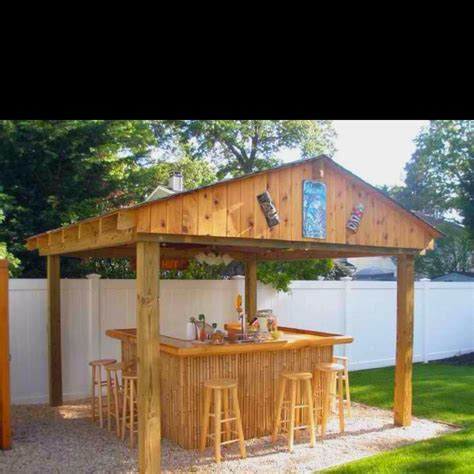 tiki bar for backyard outdoor goods