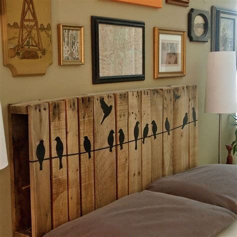 diy kopfteil wood pallet crafts easy craft ideas