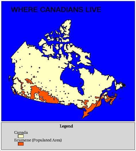 canadian map by population canada thematic map