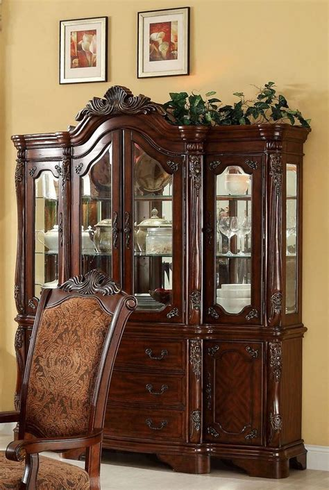 set of 2 formal dining cromwell antique cherry formal dining room set from furniture of america cm3103t table