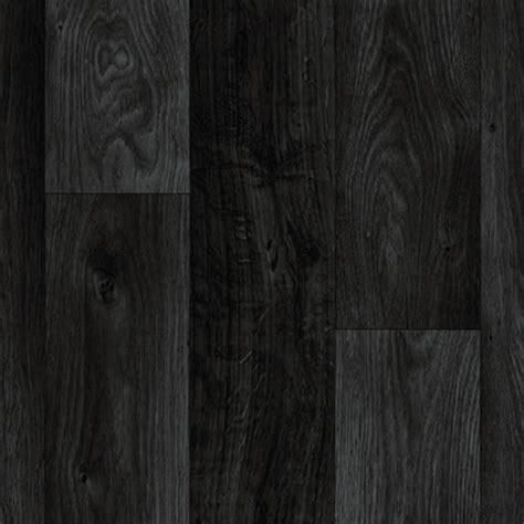 Black Dark Grey Wood Plank Vinyl Flooring, Slip Resistant