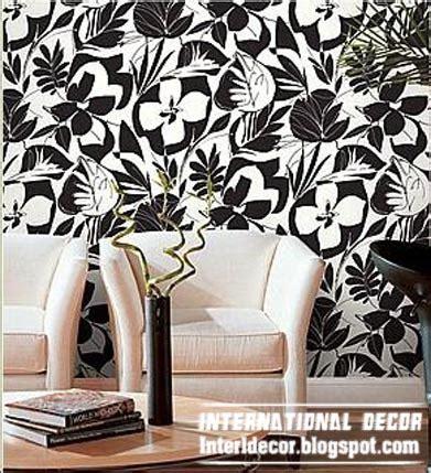 black and white living room wallpaper modern living room wallpaper design ideas interior