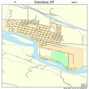 columbus montana map 3016825