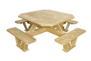 Wood Octagon Picnic Table Plans by Picnic Tables