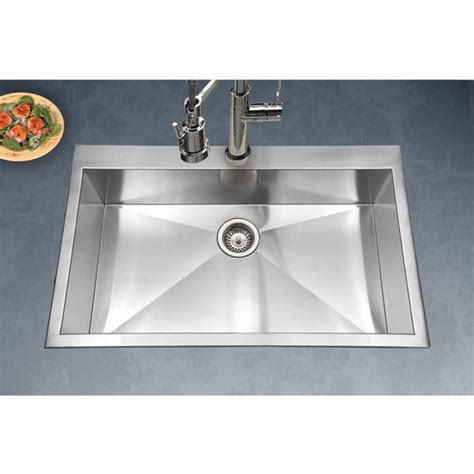 houzer kitchen sink houzer bellus zero radius topmount large single bowl