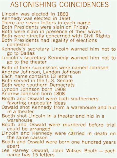 lincoln kennedy coincidences image gallery lincoln and kennedy coincidences