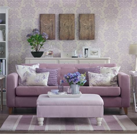 damask wallpaper bedroom bedroom ideas sofa lilac damask living room country decorating ideas
