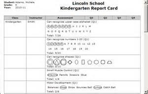 Sample Report Cards For Kindergarten Generate Report Cards