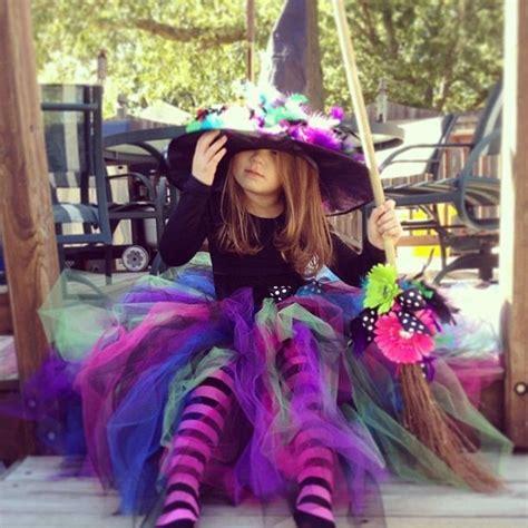 homemade girls witch costume  halloween