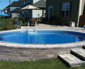 Backyard Pools With Deck Semi Inground Pool Decks Backyard Design Ideas