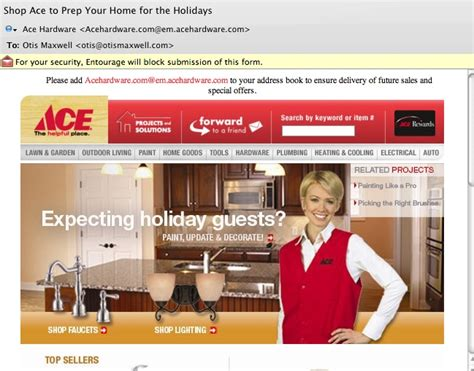 Ace Hardware Email | best practices for graphics in emails copywriting and