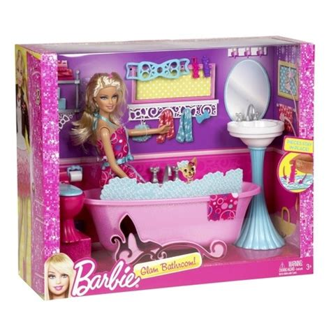 barbie glam bathroom barbie glam bathroom furniture and doll set bathtub sink