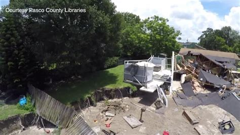 Pasco County Search Drone Shows Damage From Pasco County Sinkhole