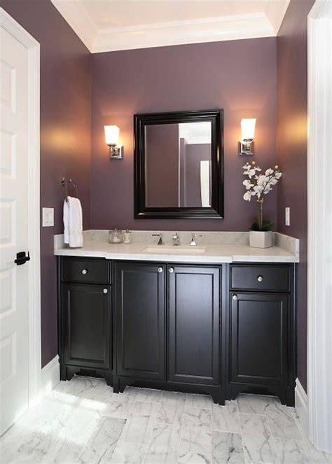 espresso paint benjamin for the home purple walls purple and bathroom