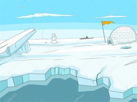 Ground Plan by Arctic Cartoon Background Vector Stock Vector