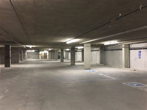 side parking garages study negative side injection waterproofing of