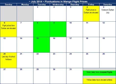 mango july  flight specials