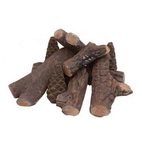 set of 9 ceramic wood logs bio ethanol fireplace gel
